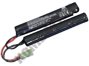 Bulldog 9.6v 1600mAh Crane Stock Battery | Airsoft Gun Parts & Spares | KOMBATKIT